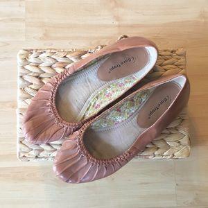 Cognac Leather Flats